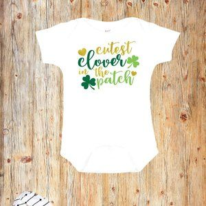 Cutest Clover in the Patch Romper- St Patricks Day
